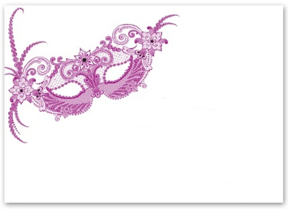 Blank Masquerade Invitation Template