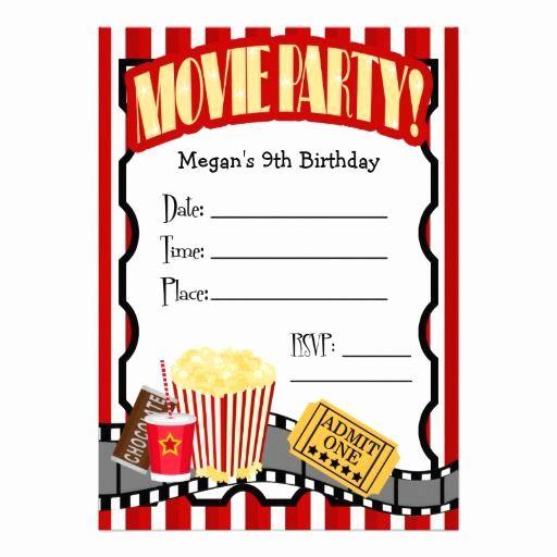 Blank Movie Invitation Template