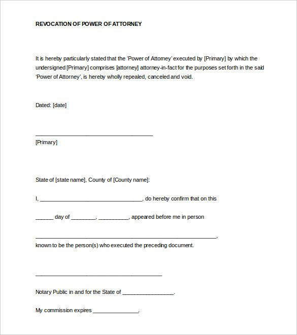 Blank Notarized Document Template