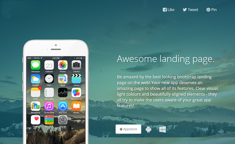 Bootstrap Landing Page Template Free Download