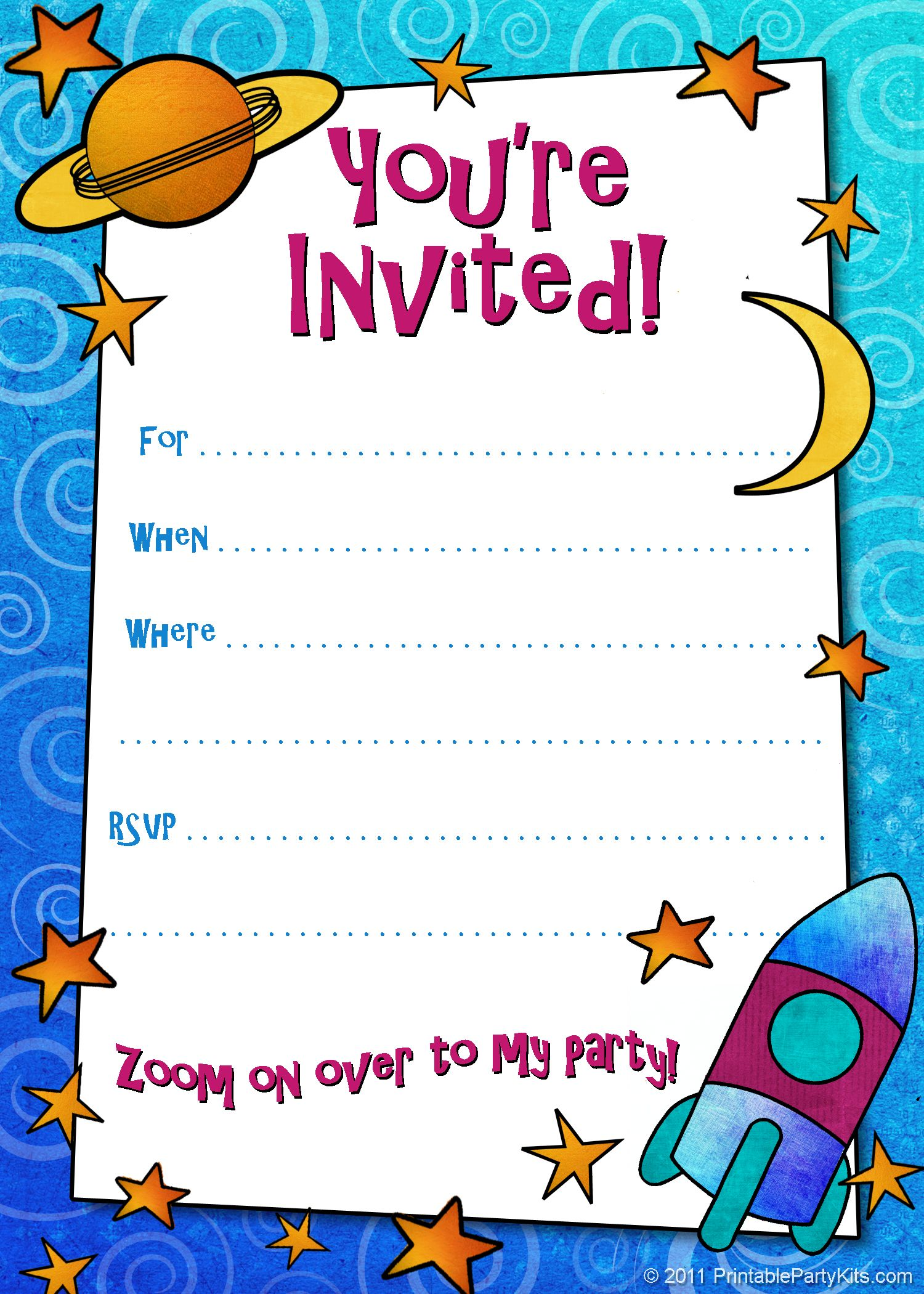 Boy Birthday Party Invitation Templates Free