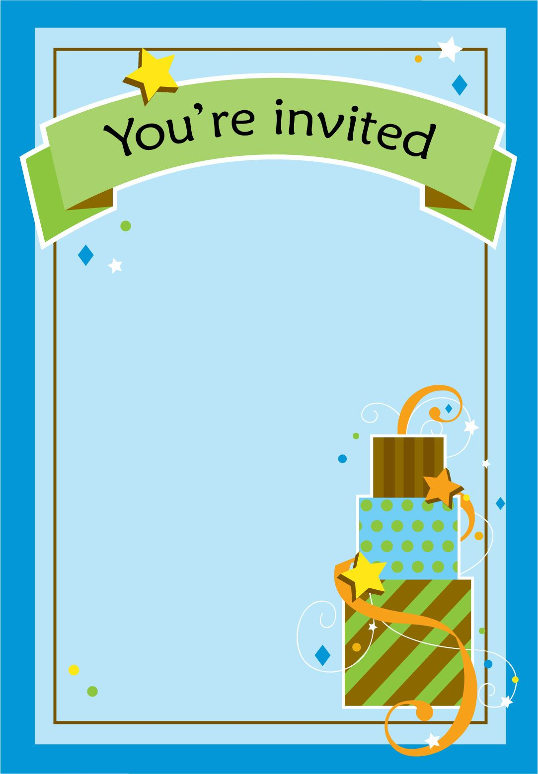 Boy Free Birthday Invitation Templates