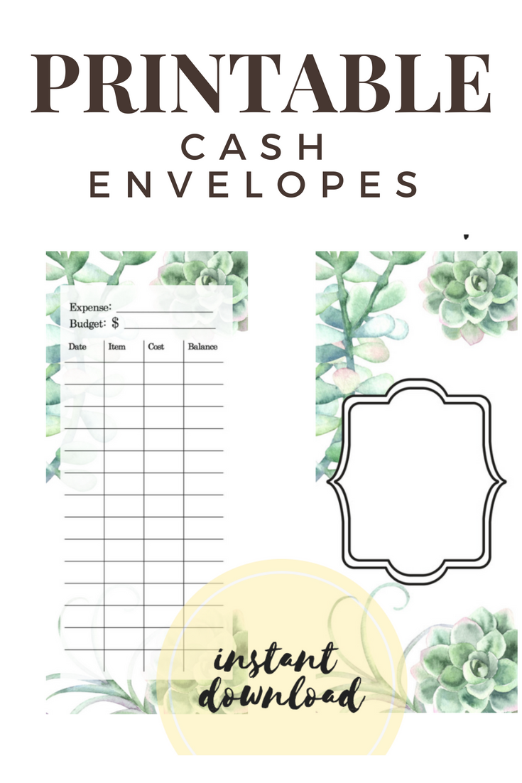 Budget Cash Envelope Template