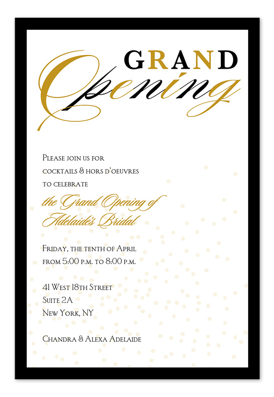Business Grand Opening Invitation Templates