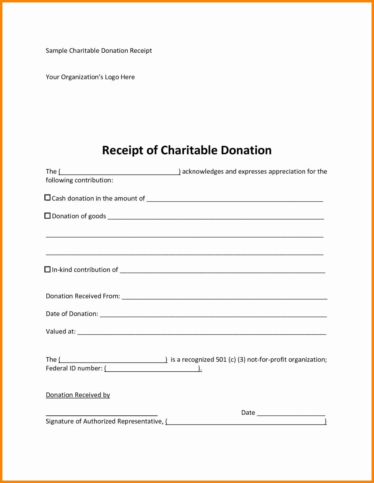 Charity Pledge Form Template