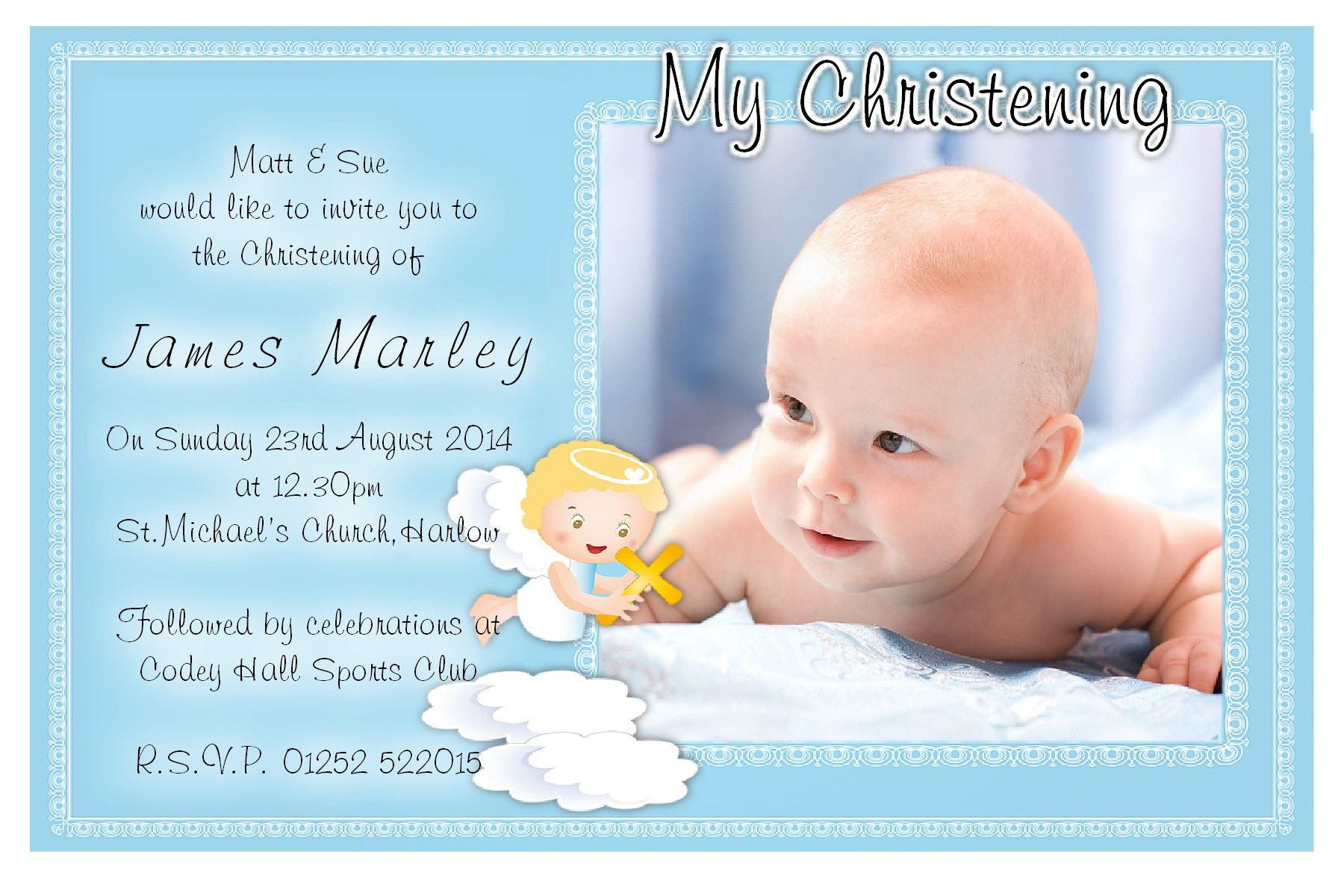 Christening Invitation Template Free Download