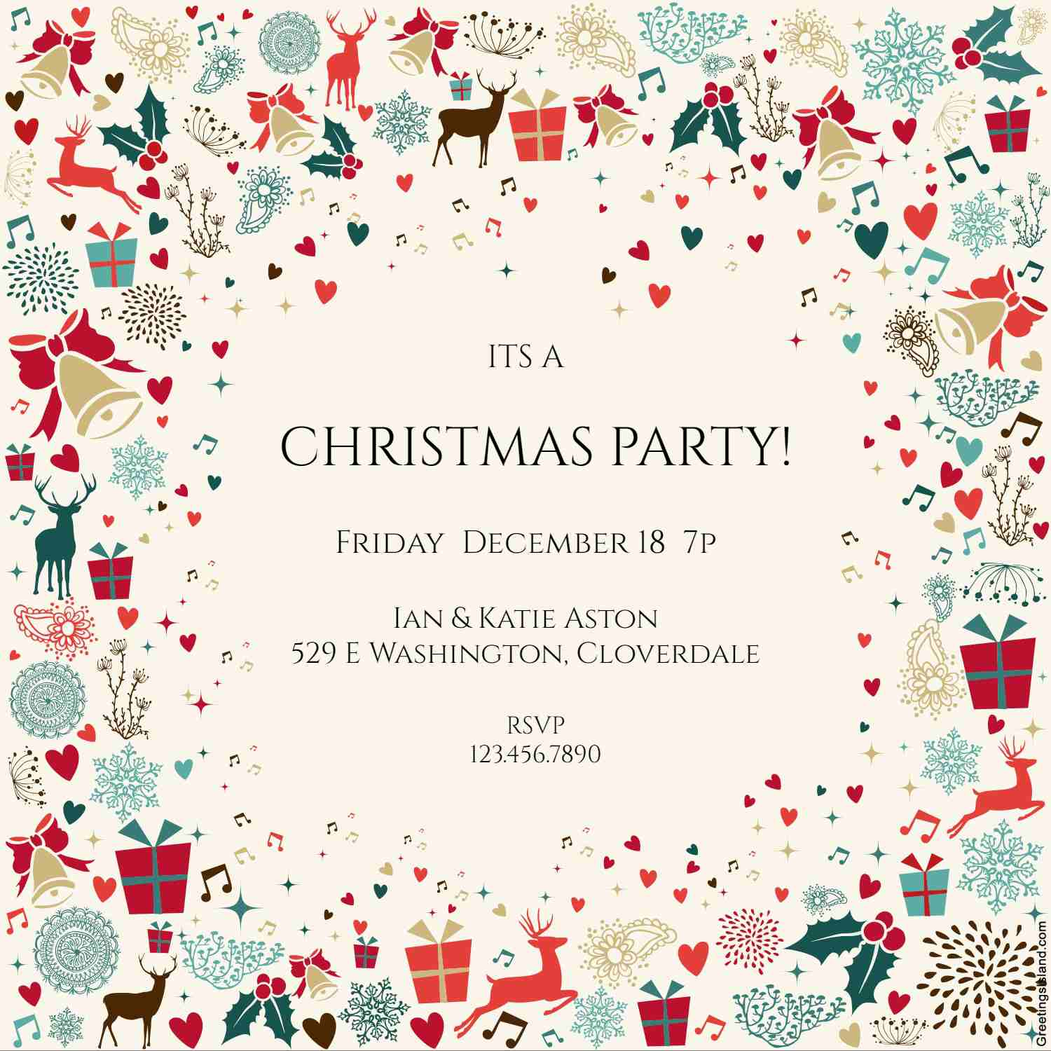 Christmas Dinner Invite Template Free