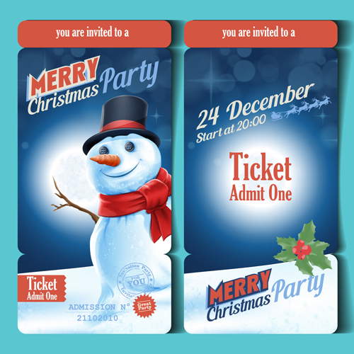 Christmas Ticket Template Free Download