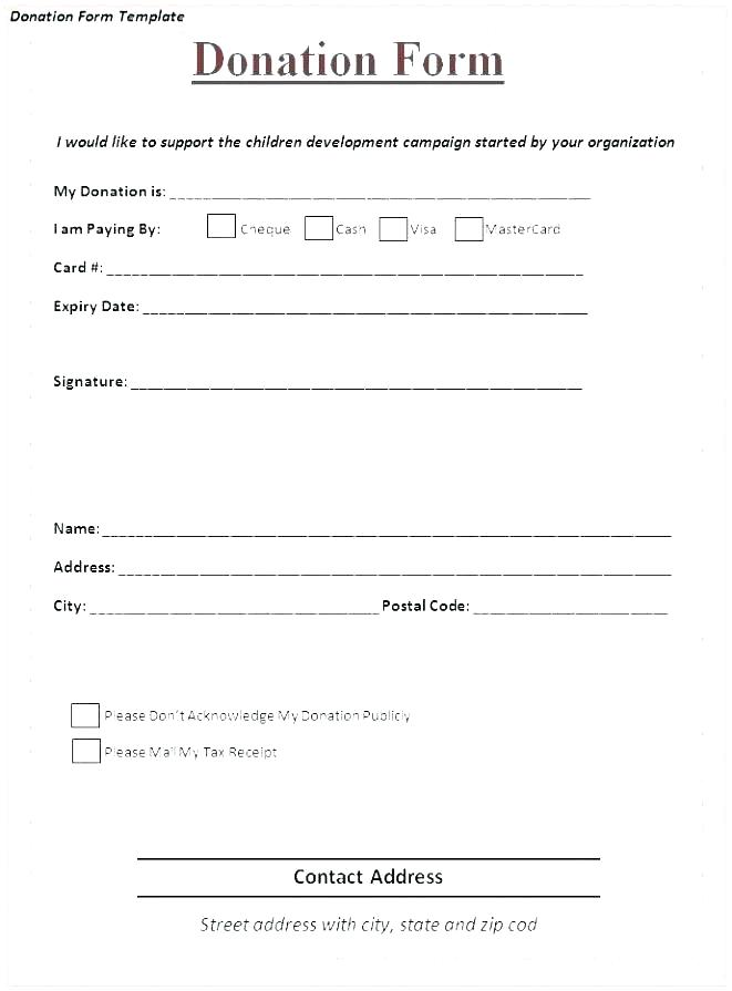 Church Pledge Form Template Free
