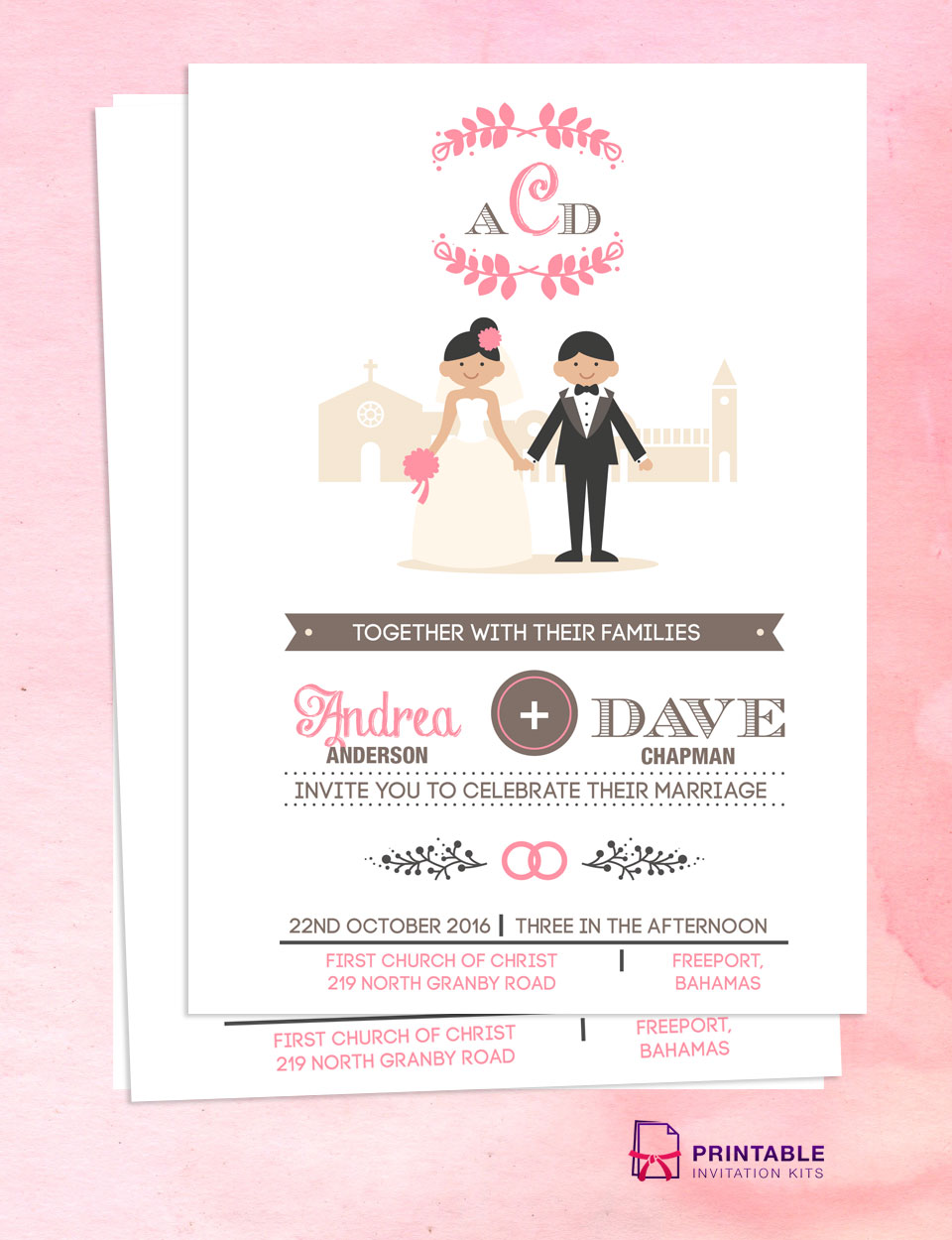 Church Wedding Invitation Templates