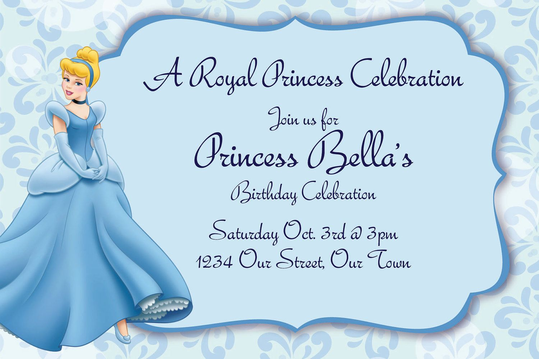 Cinderella Birthday Invitation Card Template