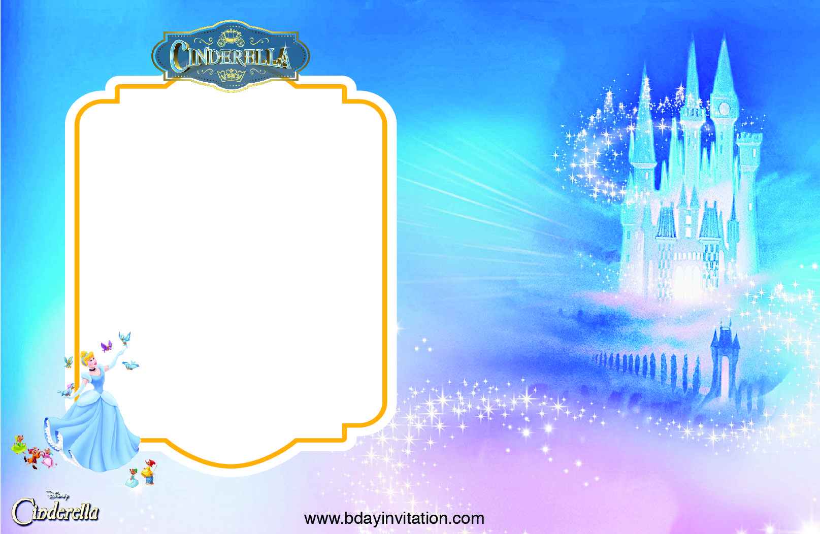 Cinderella Invitation Template Free