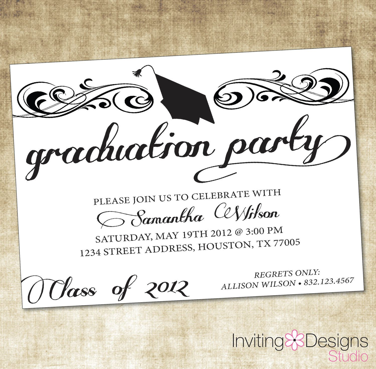 College Graduation Invitations Templates
