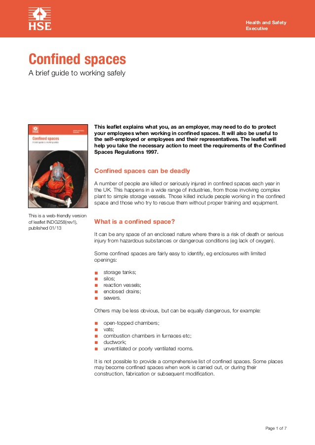 Confined Space Rescue Plan Template Uk