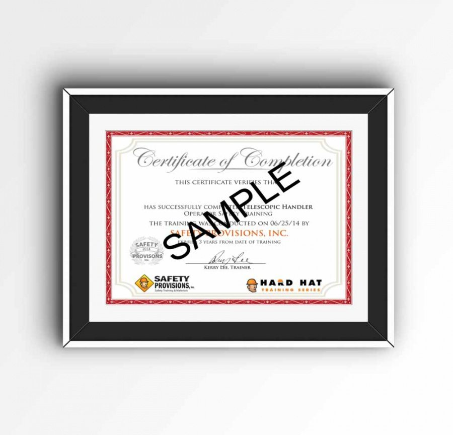 Confined Space Training Certificate Template