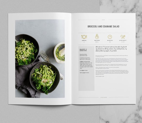 Cookbook Template Indesign