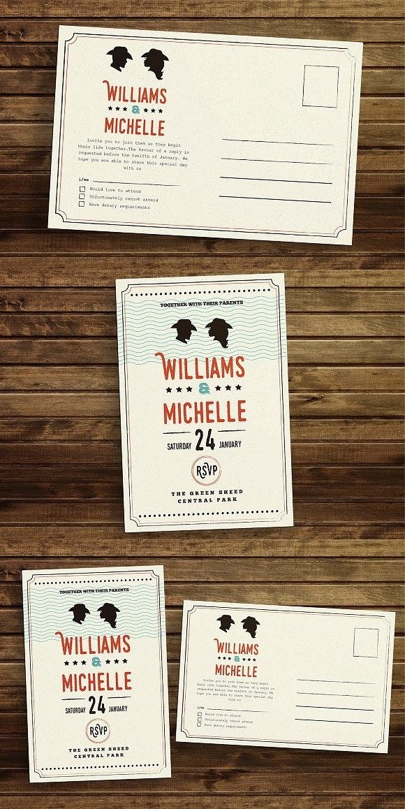 Country Style Wedding Invitation Country Wedding Invitation