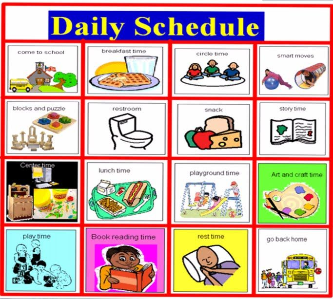 Daily Routine Daycare Schedule Template