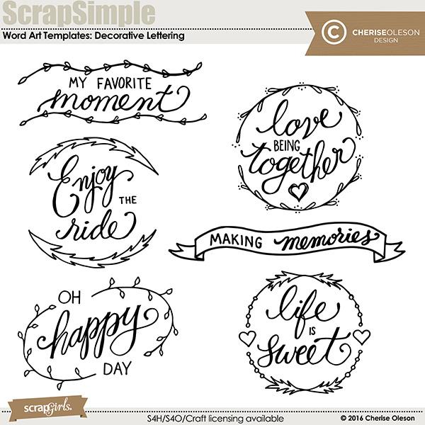 Decorative Lettering Templates