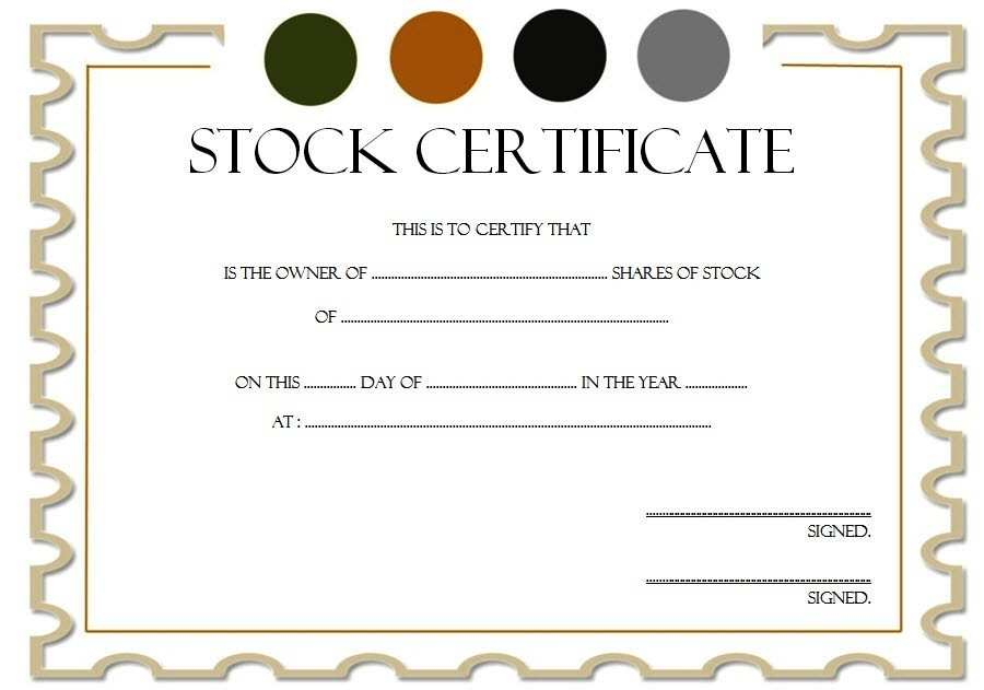 Disney Stock Certificate Regular Stock Certificate Template 6 ? The Best Template Je 78788