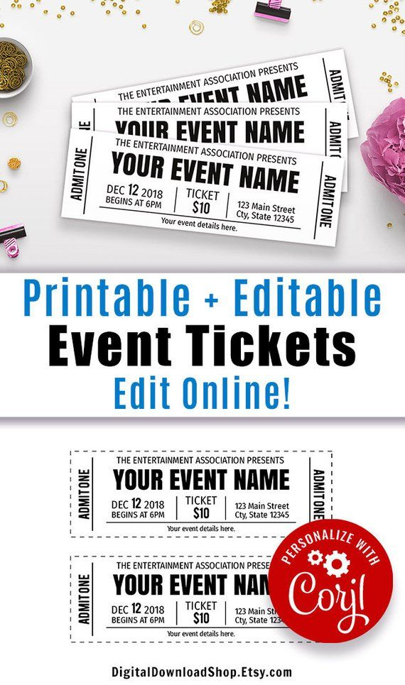 Diy Event Tickets Template