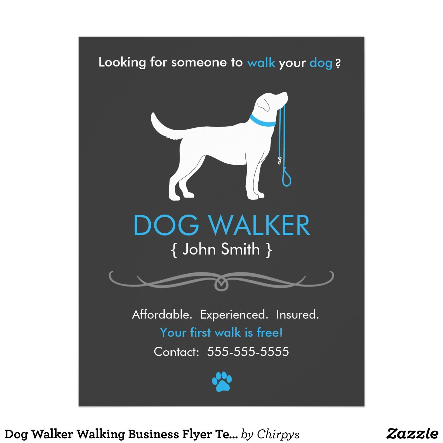 Dog Walking Flyer Template Free
