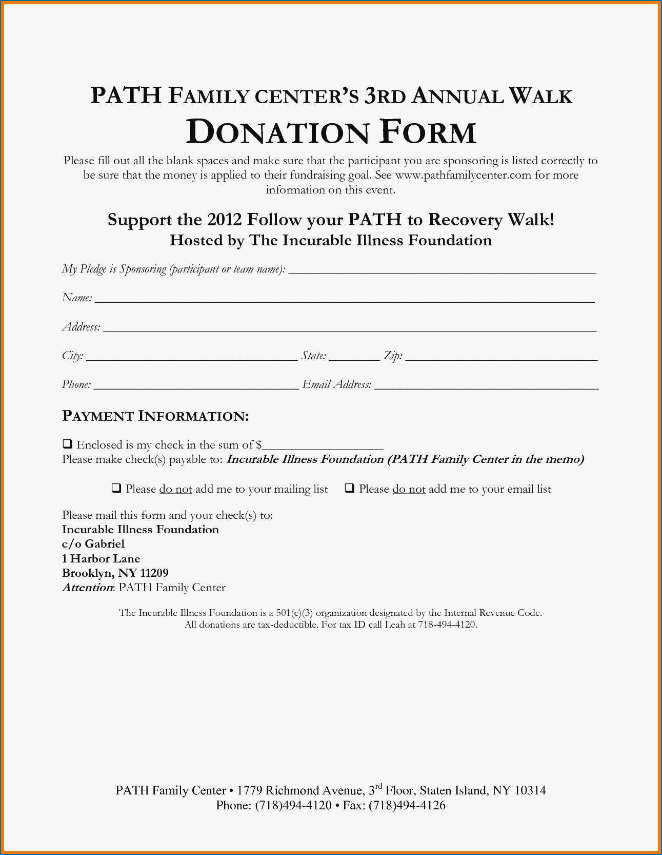 Donation Pledge Agreement Template