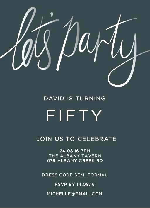 Downloadable 50th Birthday Invitations Templates