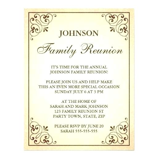 Downloadable Family Reunion Invitation Templates Free