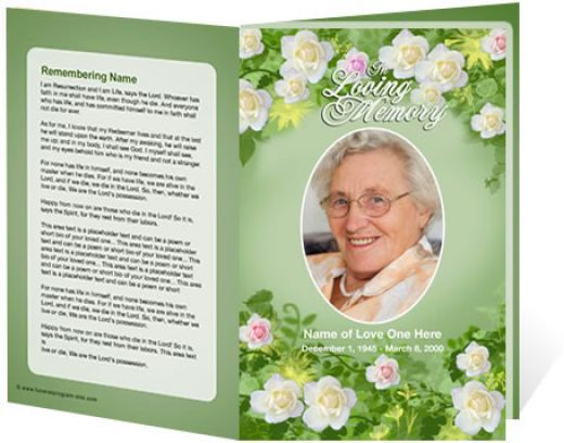 Downloadable Funeral Programs Template