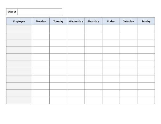 Downloadable Monthly Employee Schedule Template Excel