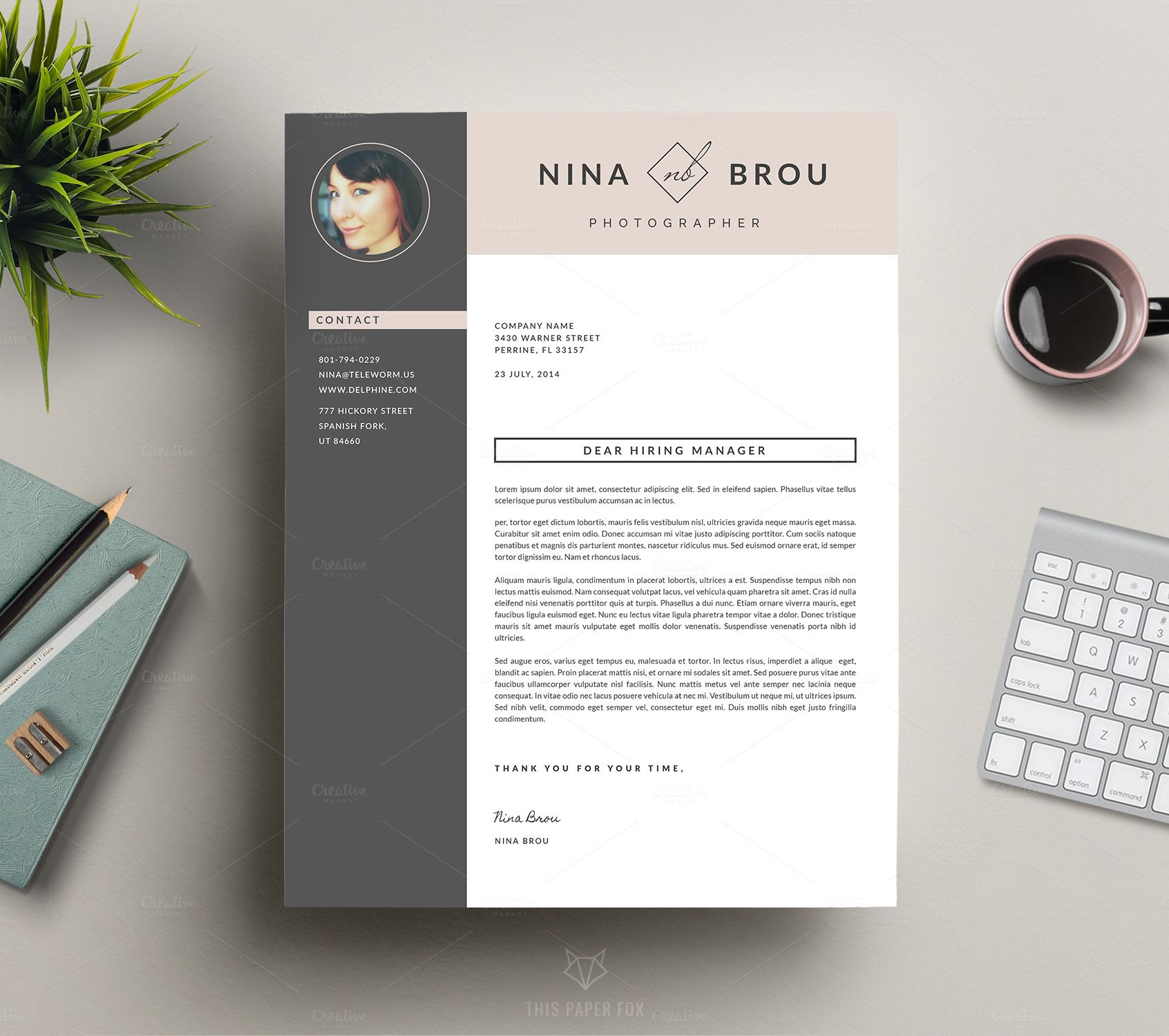 Downloadable Resume Template Design