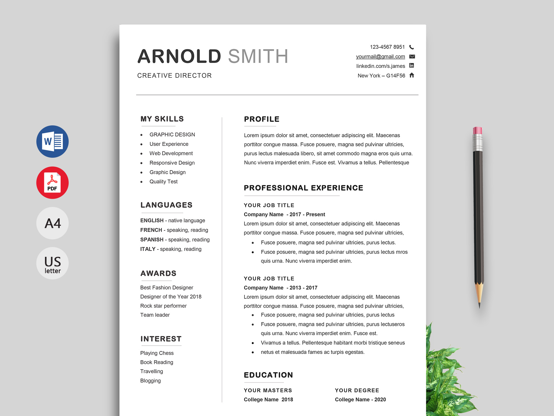 Downloadable Resume Templates Word Free Download