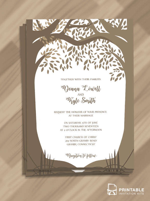 Downloadable Wedding Invitation Templates