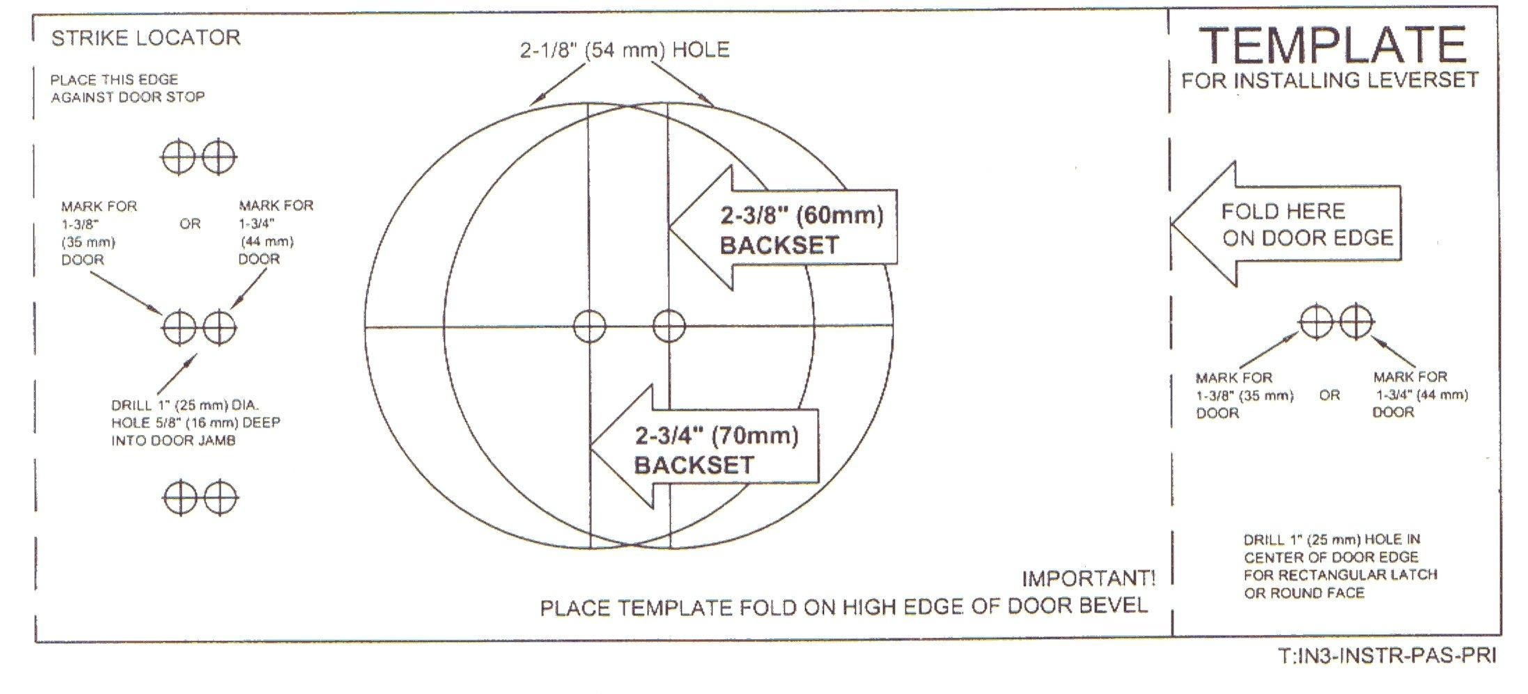 Door Knob Drill Template2194 X 997