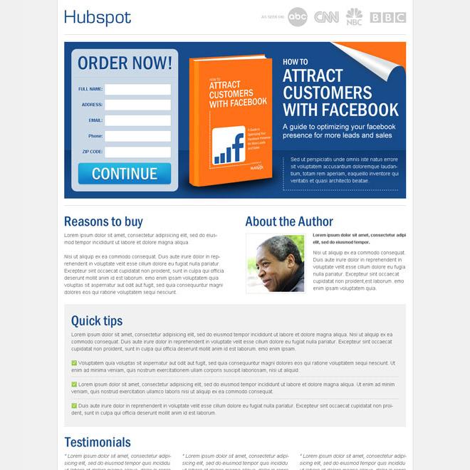 Ebook Landing Page Design Templates