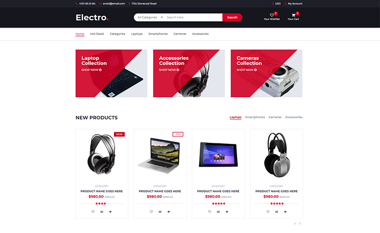 Ecommerce Template Bootstrap Free Download