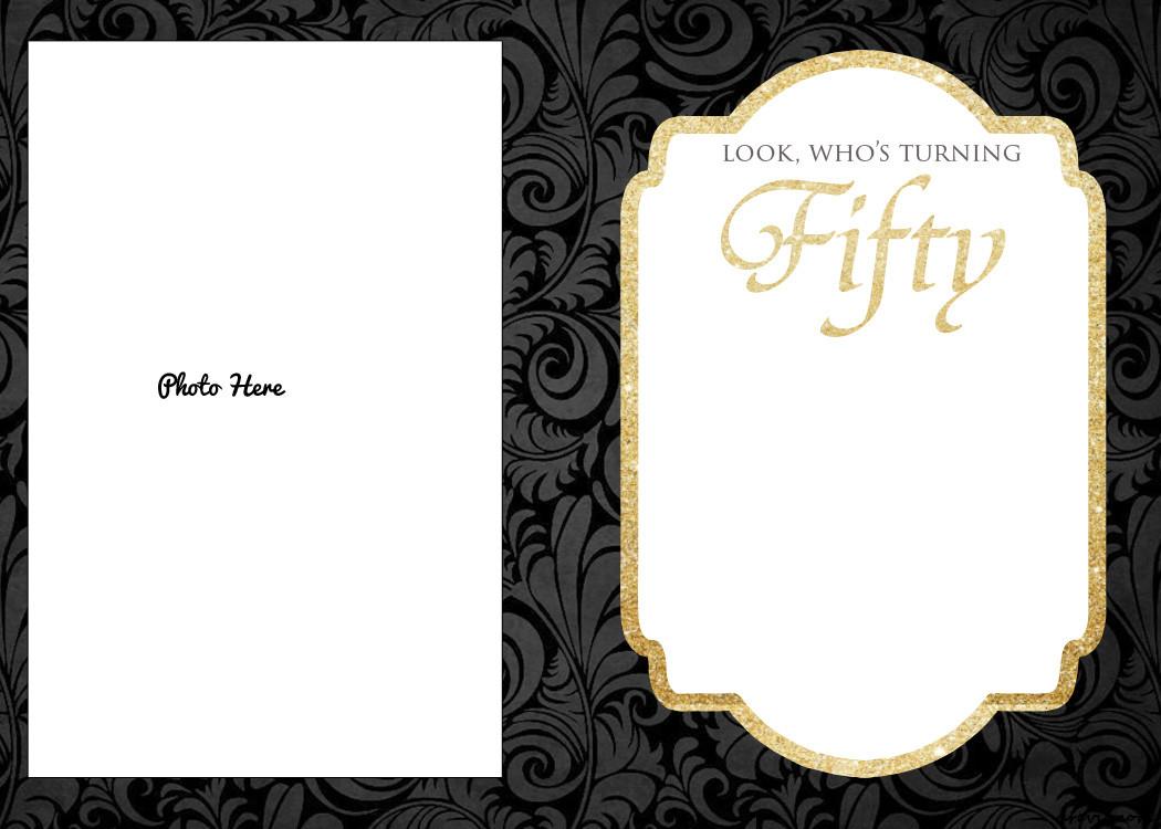 Editable 50th Birthday Invitation Templates Free Printable 50th Birthday Invitations Template