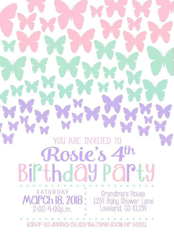 Editable Butterfly Invitation Template