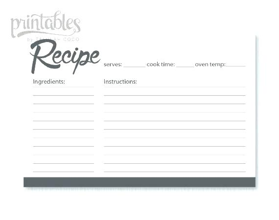 Editable Downloadable Recipe Template