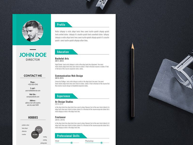 Editable Free Creative Resume Templates