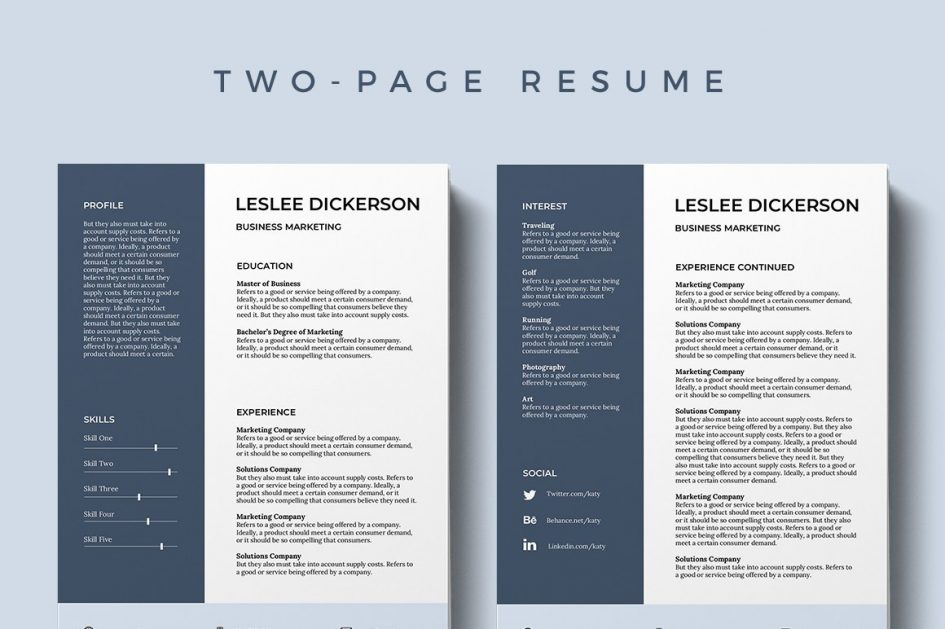 Editable Free Modern Resume Templates For Word