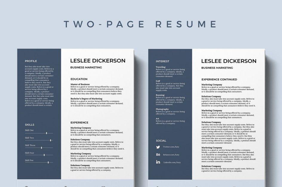 Editable Free Modern Resume Templates For Word