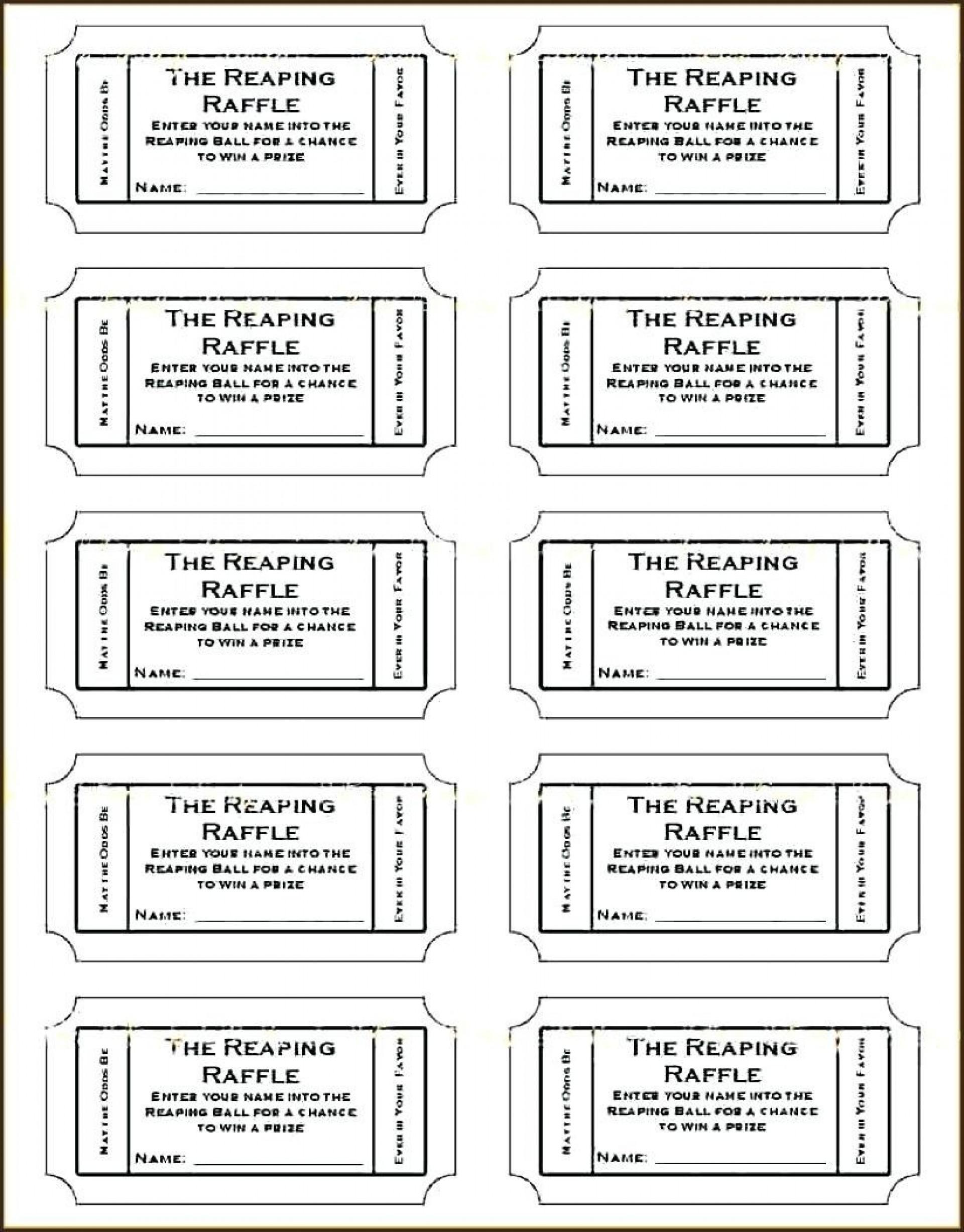 Editable Free Printable Tickets Template