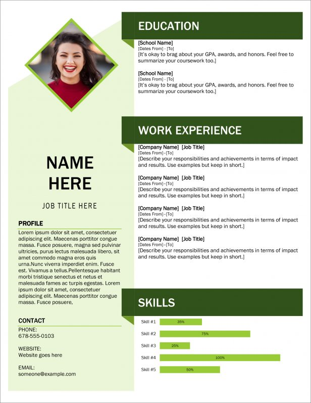 Editable Resume Templates Word Free Download