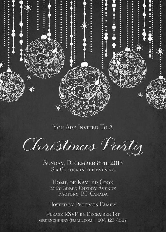 Elegant Christmas Invitations Templates Free | Listmachinepro In Elegant Christmas Invitations Templates Free