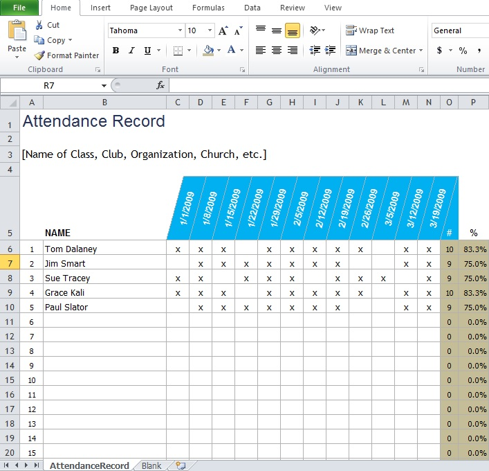 Employee Attendance Sheet Template Free