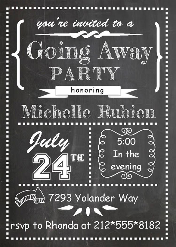 Farewell Invitation Template Free Download