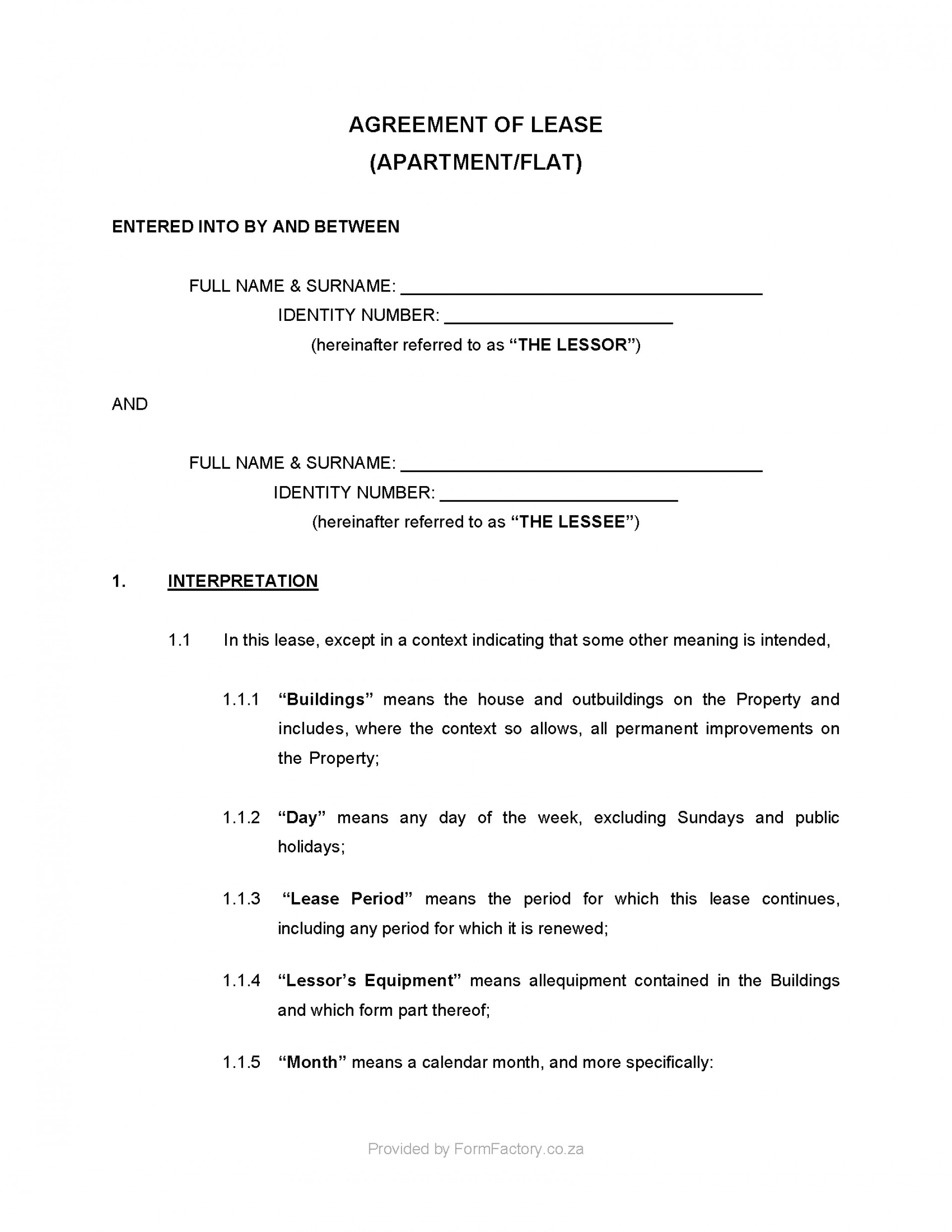Farm Lease Agreement Template South Africa