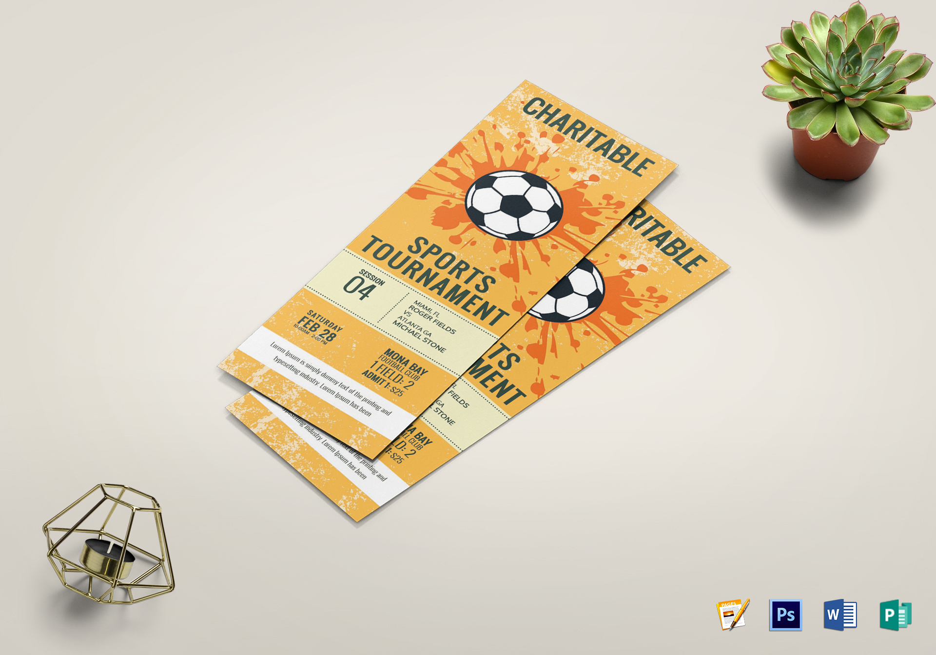 Football Ticket Template Word